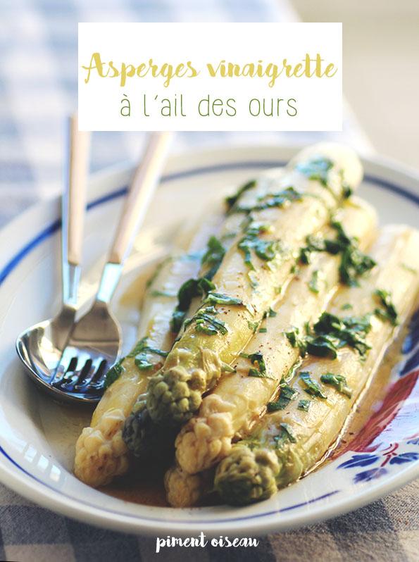 asperges vinaigrette à l'ail des ours - Asparagus with wild garlic vinaigrette