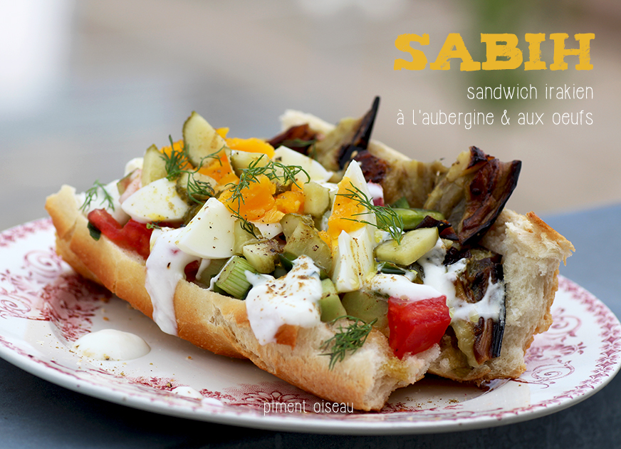 sabih sandwich irakien