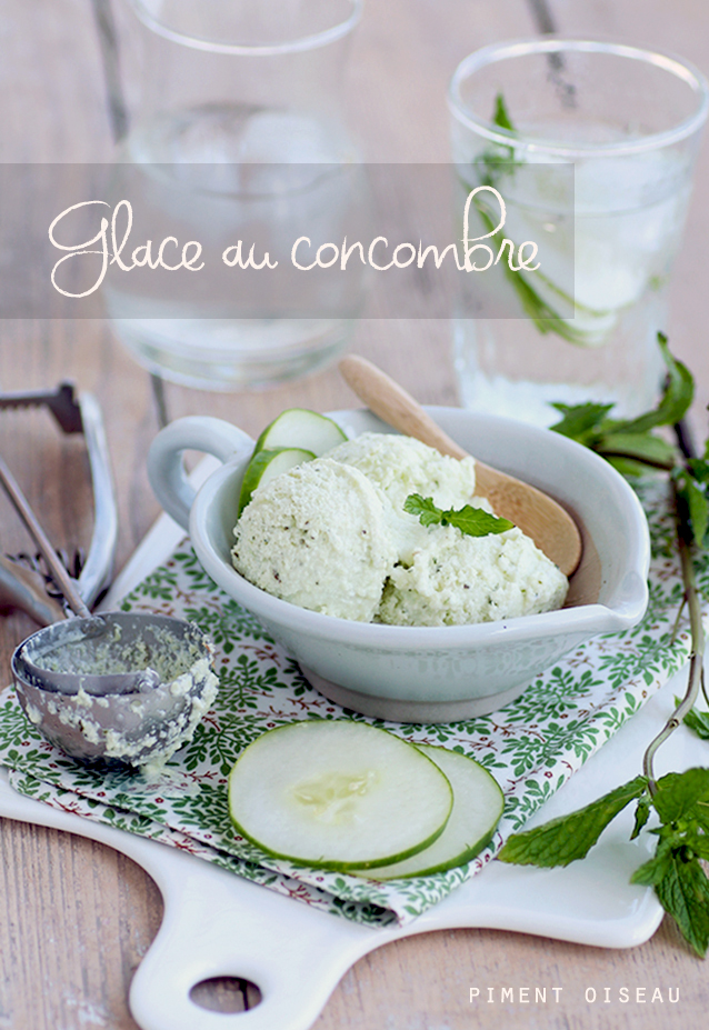 glace au yaourt et au concombre - yogurt and cucumber ice cream