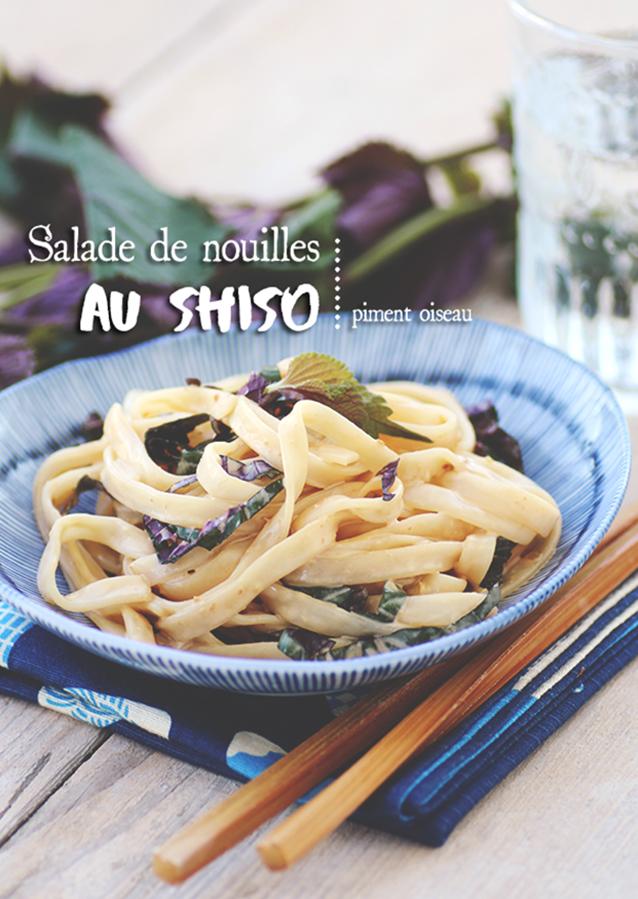 salade de nouilles au shiso