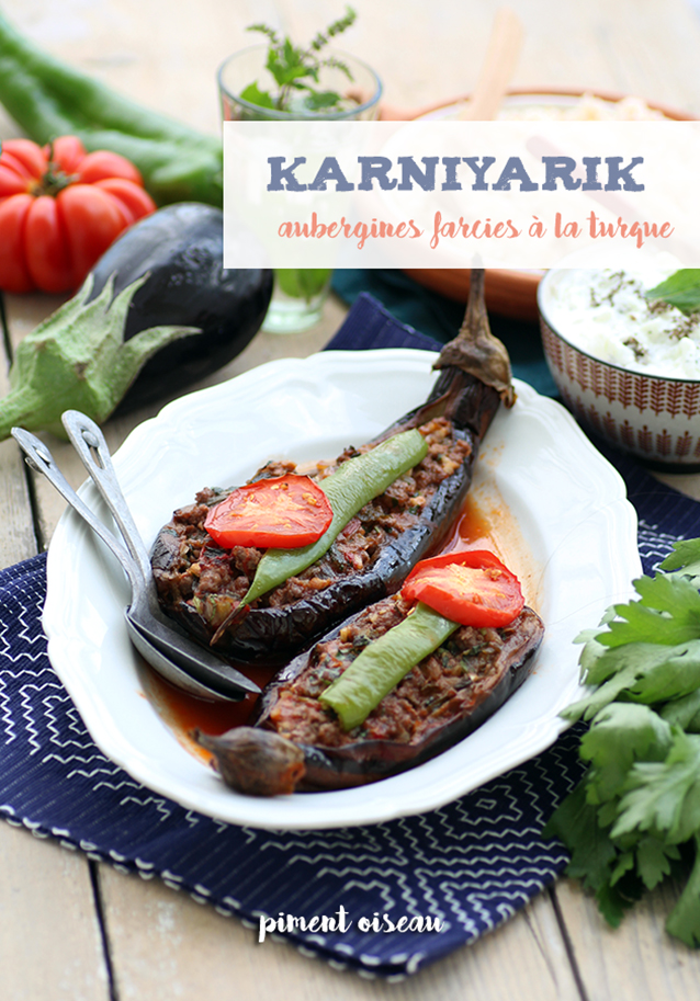 karniyarik, aubergines farcies à la turque- turkish style stuffed eggplants