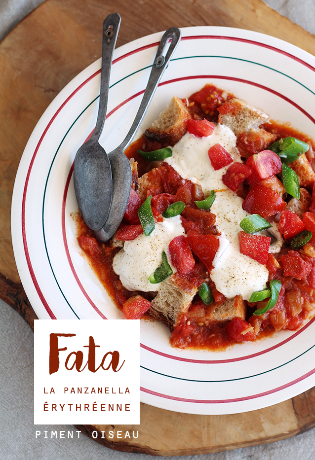 fata, la panzanella érythréenne- eritrean panzanella