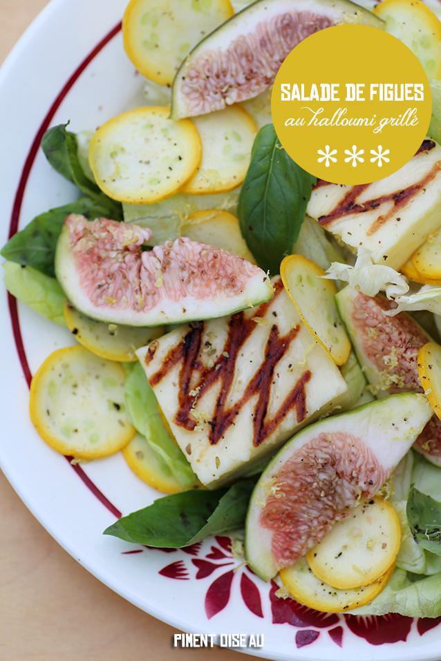 salade de figues au halloumi grille