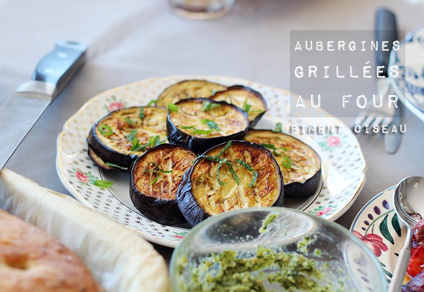 Aubergines grill es au four piment oiseau - Chataignes grillees au four ...